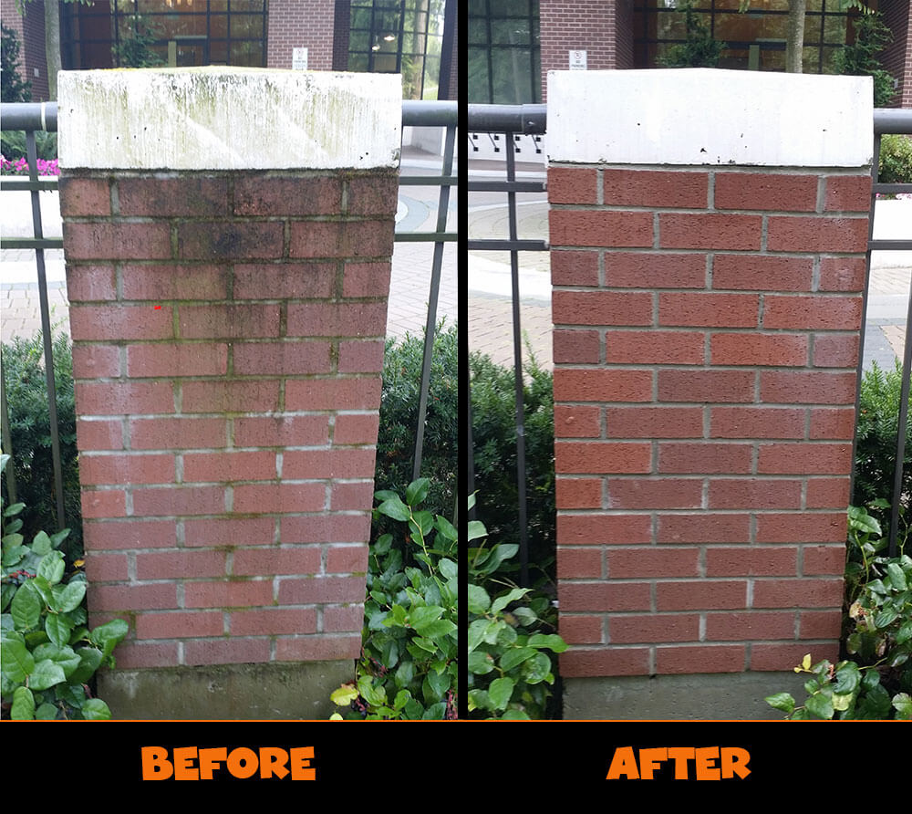 Pressure Washing Brick
