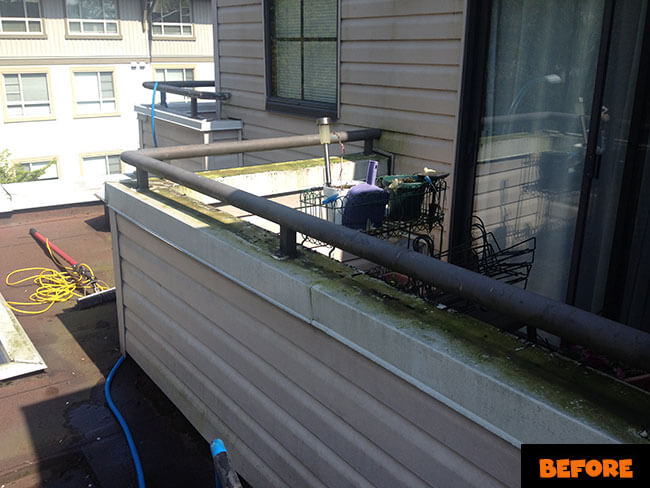 Burnaby Pressure Washing Balcony