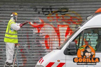 white rock graffiti removal
