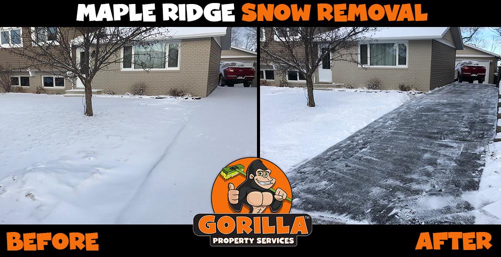 maple ridge snow removal