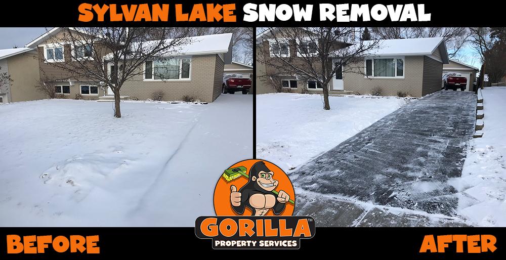 sylvan lake snow removal