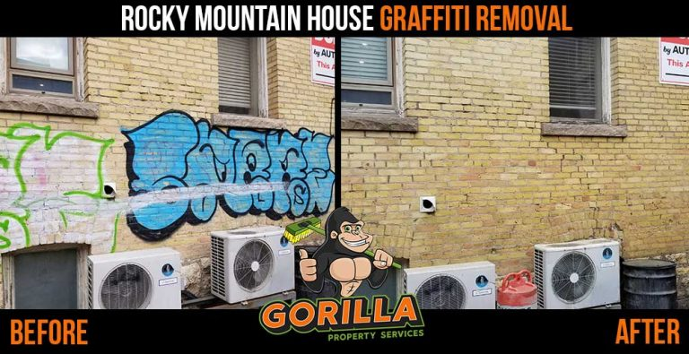 Rocky Mountain House Graffiti Removal