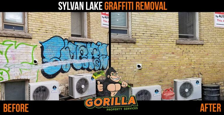 Sylvan Lake Graffiti Removal